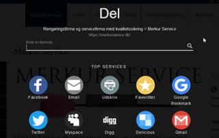 Sociale ikoner på merkurservice.dk